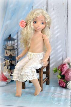 Купить Юная Ассоль, текстильная коллекционная авторская кукла - голубой, белый, алый, Ассоль