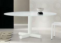 White Round Coffee Table
