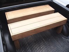 Brazilian benches to match this exotic custom deck. Made using some of the hardest wood in the world. Ipe Wood, Custom Decks, Modern Bench, Garage Storage, Outdoor Furniture, Outdoor Decor, Benches, Hardwood, Backyard