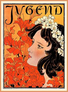 Jugend cover, No.14, April 1896. German Art Nouveau