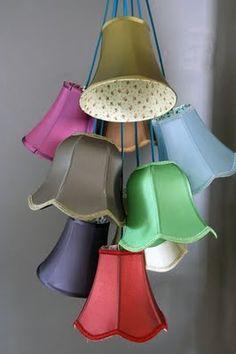 Hanglamp met verschillende lampenkapjes