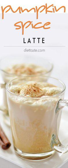 Pumpkin Spice Latte - make this seasonal coffee shop favorite in your own home. It feels like fall when you drink it! - diettaste.com