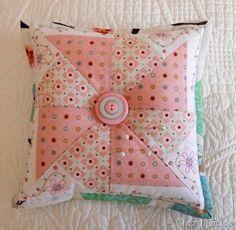 pinwheel block pincushion
