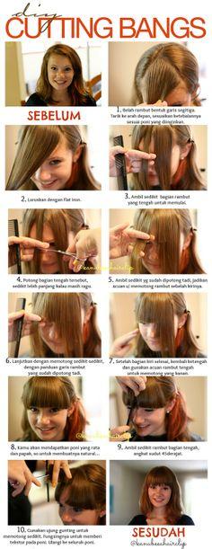 Kanubeea Hair Clip: Cara Potong Rambut Poni Sendiri