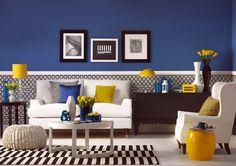 El azul eléctrico en la decoración