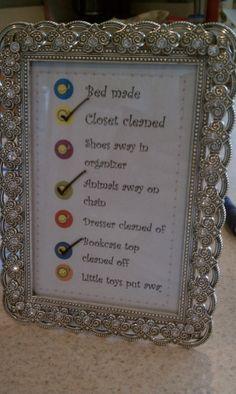 Framed Chore Chart