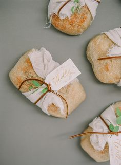 love the cheesecloth + leather wrap + amazing calligraphy Julie Doan Calligraphy