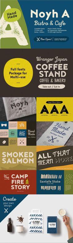 Noyh A #logo #paint #otf #branding #brushscript #font #watermelon #opentypefont #typeface #handlettered #thickfont #WeddingFonts #watercolour #lettering #opentypefont #chunkyfont #typography #rough #brush