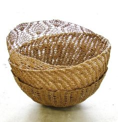 Crocheted hemp bowls- eco friendly, ethically made and just lovely
