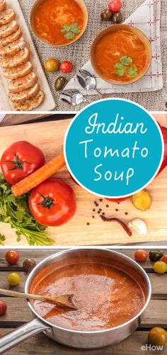 "This recipe has all that you love about classic tomato soup but with a little ""Indian"" twist! You'll never buy canned versions once you see how easy it is to make this at home! Recipe here: http://www.ehow.com/how_12343150_indian-tomato-soup-recipe.html?utm_source=pinterest.com&utm_medium=referral&utm_content=freestyle&utm_campaign=fanpage"