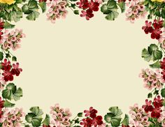 free vintage flower journaling spot /tag AND digital scrapbooking frame and embellishment with vintage flowers – vintage Etikette und Blumenrahmen png – Freebies   MeinLilaPark