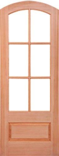 8 foot tall, mahogany tiffany arch top double wood entry ...
