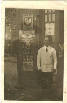 Max Kempler, Joseph's father. Max is standing outside his Szynk, or pub in Krakow, Poland. This is before Nazis forced him to relinquish his family-owned and operated business to citizens of German descent. https://play.google.com/store/books/details/April_Voytko_Kempler_The_Altered_I?id=kUxNAgAAQBAJ