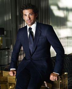 Patrick Dempsey pour Versace : les photos de la campagne