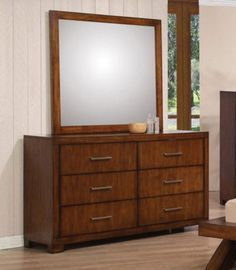 Acme Furniture - Galleries Dresser with Mirror Set in Oak Wood - 20235A-34A