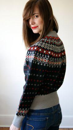 Bildergebnis für Busty Girls in Icelandic sweater Nordic Sweater, Ski Sweater, Sweater Weather, Icelandic Sweaters, Wool Sweaters, Warm Outfits, Winter Outfits, Norwegian Knitting, Fair Isle Pattern