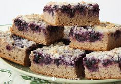 boruvkovy kváskový koláč