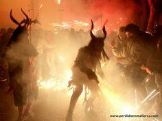 Correfocs en las Fiestas de Sant Sebastià de Palma de Mallorca