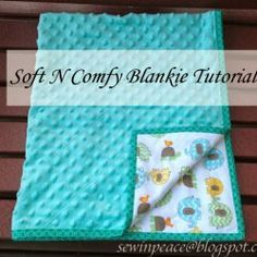 """""""Soft N Comfy Blankie Tutorial"""". Quick and easy baby quilt. Includes instruction for the binding. Found at Sew in Peace. Soft N Comfy Blankie Tutorial. Quick and easy baby quilt. Includes instruction for the binding. Found at Sew in Peace. Baby Sewing Projects, Sewing Projects For Beginners, Sewing Hacks, Sewing Crafts, Sewing Ideas, Sewing Tips, Baby Sewing Tutorials, Diy Projects, Quilt Baby"""