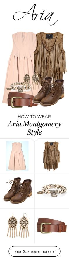 """""""Aria Montgomery"""" by blueangel16-001 on Polyvore featuring H&M, Will Leather Goods, Unreal Fur, Carole Shashona and Gemma Simone Aria Montgomery Outfit, Pll Outfits, Pretty Little Liars Fashion, Everyday Outfits, Dress Me Up, Boards, Fur, Polyvore, Leather"""
