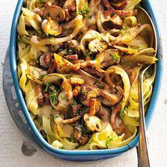 5 januari: hamsterweken - witlof in de bonus - Recept - Tagliatelle met champignons en witlof - Allerhande