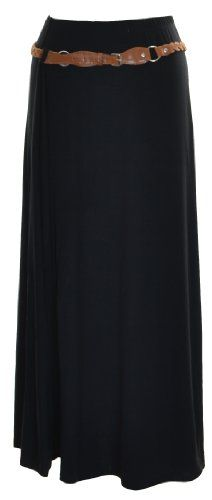 VIP Boutique Womens Belted Gypsy Long Maxi Skirt $20.99