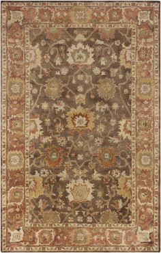 Surya Relic RLC3000 Brown/Pink Traditional Area Rug