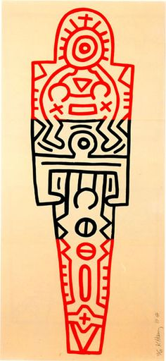 Totem, 1989  Woodcut  75 1/2 x 35 inches   192 x 89 cm    Edition: 60