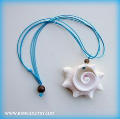 Conch Shell Surfer Girl String Necklace Sun and Sea   by RumCay, $12.95