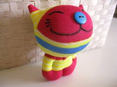 sock doll cat.... Want to try and make one.... One of my favorite stuffed animals was my sock reindeer. Sock animals are a must for every child
