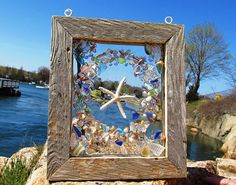 Beach Glass Window....I need to find out how to make this