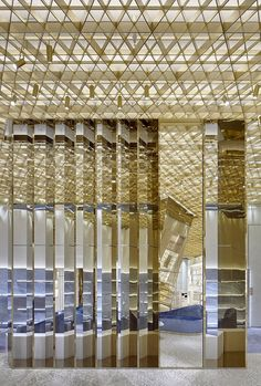gwenael nicolas captures versace's complexity and diversity in new miami store gwenael nicolas captures versace's complexity and diversity in new miami store designboom Versace Store, Miami Store, Luxury Store, Store Interiors, Retail Interior, Top Interior Designers, Design Studio, Home Decor Store, Ceiling Design