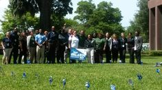 Central Region, Robinson Service Center CPI's plant a pinwheel garden outside HQ buildings. #pinwheelsforprevention