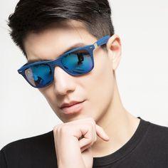 New Fashion Rectangle Sunglass Adult Mirror sunglasses Men UV400 Oculos Gafas Lentes de sol Blue Mirrored Sun Glasses Women