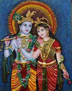 Lord Radha Krishna Love Images Full Size Photo Gallery of Shri God Krishna Drawing, Krishna Painting, Krishna Art, Radhe Krishna, Shree Krishna, Krishna Statue, Durga Maa, Kerala Mural Painting, Madhubani Painting
