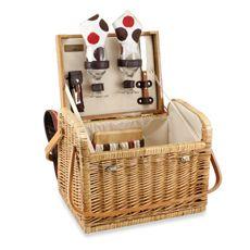 Picnic Time® Kabrio Willow Basket - Moka. $79.99