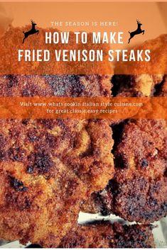 Pan fried Venison cutlets are so tender. These are a delicious part of the filet in deer meat. Pan fried keeps this venison steak moist , tender and juicy. Pot Roast Brisket, Venison Steak, Beef Tenderloin Roast, Pork Roast, Deer Recipes, Game Recipes, Cooking Recipes, Easy Dinner Recipes, Easy Meals