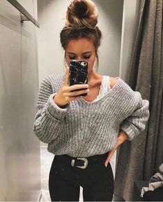 casual outfits for winter . casual outfits for work . casual outfits for women . casual outfits for school . casual outfits for winter comfy Winter Outfits For Teen Girls, Winter Mode Outfits, Casual Winter Outfits, Winter Fashion Outfits, Look Fashion, Spring Outfits, Trendy Fashion, Cool Outfits, Autumn Fashion