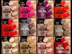 Avon Pro Colour in 60 Seconds Nail Enamels - All 18 shades in photos Products Body Works Posh secret Parfum Avon Nail Polish, Avon Nails, My Nails, Avon Products, Beauty Products, Perfectly Posh, Etude House, Stylish Nails, Trendy Nails