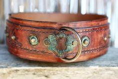 DARJEELING | Colonial style dog collar handmade by Sauri