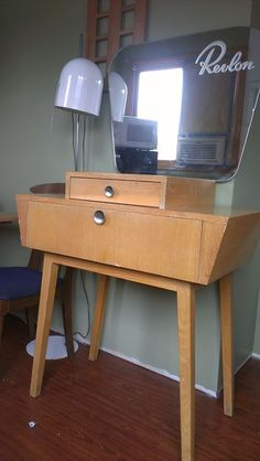Revlon 1950's Vanity!  This piece could be restored nicely! Love!
