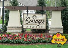 Peachtree City Foamcraft Signs Custom Gallery Monument Sign