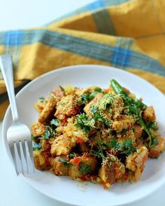 Bread Upma Recipe, How to make Bread Upma: Easy bread upma recipe with step by step pictures. Wheat bread upma is healthy Indian breakfast recipe served on street.