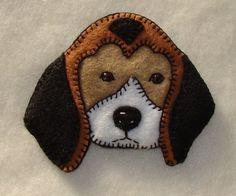 Beagle breed pin or Christmas ornament-handmade original and unique