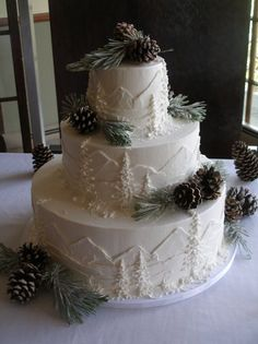 Probably a little too winter-y for a summertime wedding, but still think the idea is cool...