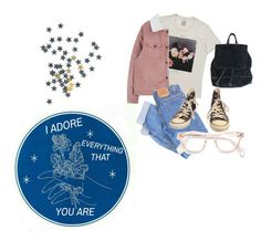 """""""Untitled #60"""" by hippiessunflower on Polyvore featuring Levi's and Converse"""