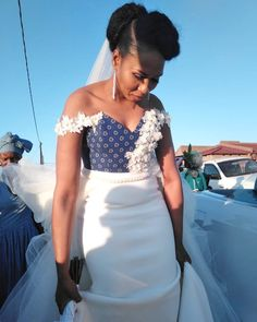 Zulu Traditional Outfit Dresses for African bride Wedding African Wedding Attire, African Attire, African Weddings, African Wear, Zulu Traditional Wedding Dresses, Traditional Outfits, High Low Outfits, African Fashion Traditional, Ankara Gown Styles