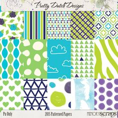 2015 Patterned Papers :: Papers :: Memory Scraps