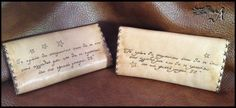 Perfect gift for couples or best friends in special price. Leather Tobacco Pouches in natural color painted in order to give the feel of old paper. The drawings are done with pyrography. The text and logo can be changed on request. The cases feature internal pockets for rolling papers and filters. They close with magnetic snaps  Dimensions: 150mm x 200mm