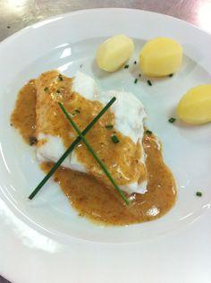 Merluza con salsa de erizos de mar. - Fotos - Tvcocina